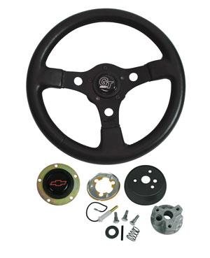 1966 El Camino Steering Wheels, Formula GT Red Bowtie, by Grant