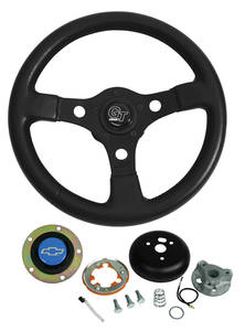 1969-77 Chevelle Steering Wheels, Formula GT Blue Bowtie