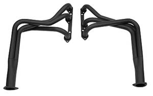 1978-1988 El Camino Header, Super Competition V6 Black - 90-Degree, by Hooker