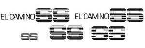 1984-1987 El Camino Body Stripe Kit, Super Sport (El Camino) Black, by Phoenix Graphix