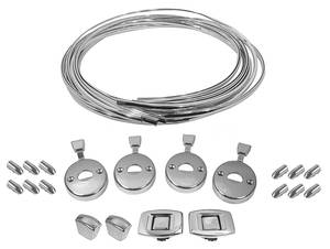 1969-72 Bonneville Seat Chrome Restoration Kit, Reproduction