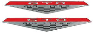 """1965-1968 GTO Door Panel Emblem """"GTO 6.5 Litre"""""""