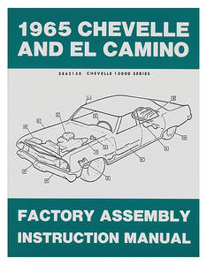 1965 El Camino Factory Assembly Line Manuals