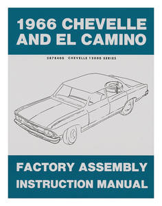 1966 El Camino Factory Assembly Line Manuals