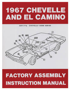 1967-1967 Chevelle Factory Assembly Line Manuals