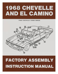 1968-1968 Chevelle Factory Assembly Line Manuals