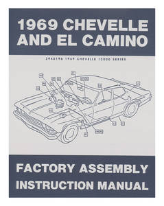 1969 El Camino Factory Assembly Line Manuals