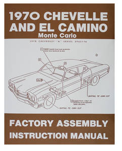 1970 Monte Carlo Factory Assembly Line Manuals