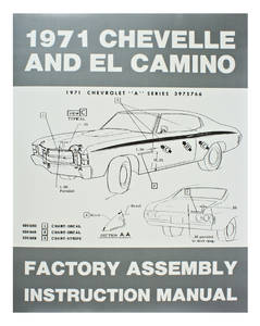 1971-1971 Chevelle Factory Assembly Line Manuals