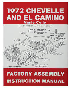 1972 Chevelle Factory Assembly Line Manuals