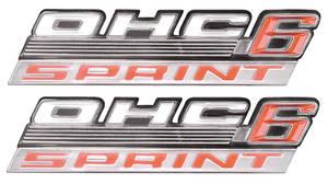 "Tempest Fender Emblem, 1967 ""OHC 6 Sprint"""