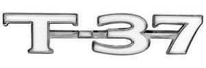 """LeMans Trunk Lid Emblem, 1971 """"T-37"""""""