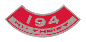 1964-1977 Chevelle Air Cleaner Decal, Hi-Thrift 194