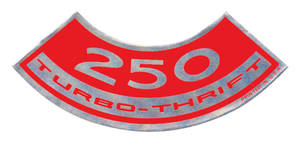 1964-77 Chevelle Air Cleaner Decal, Turbo-Thrift 250