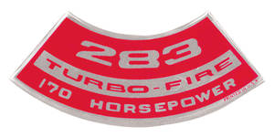 1964-1977 Chevelle Air Cleaner Decal, Turbo-Fire 327, 300 HP