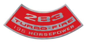 1964-77 Chevelle Air Cleaner Decal, Turbo-Fire 283, 195 HP