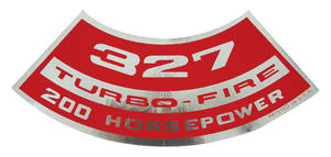 1964-77 El Camino Air Cleaner Decal, Turbo-Fire 327, 200 HP