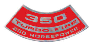 1964-77 Chevelle Air Cleaner Decal, Turbo-Fire 350, 250 HP