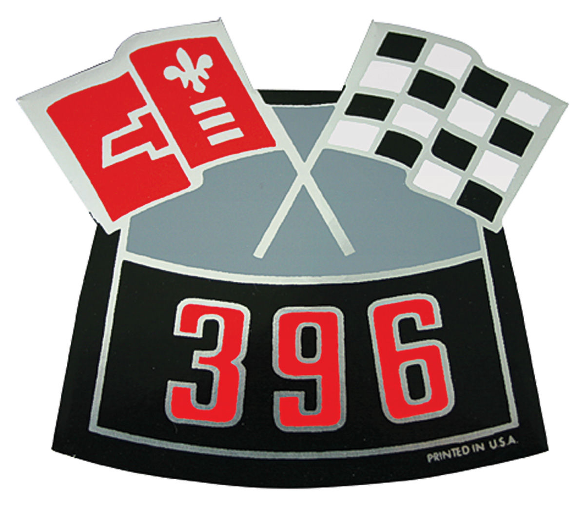 Photo of Air Cleaner Decal, Crossed Flags 396