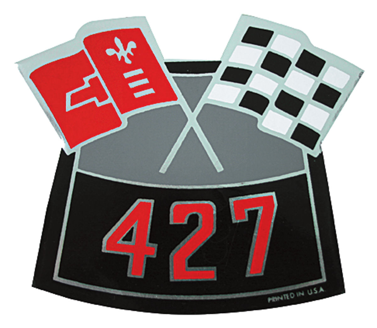 Photo of Air Cleaner Decal, Crossed Flags 427