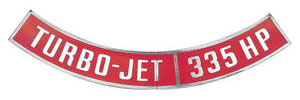 1964-77 Chevelle Air Cleaner Decal, Turbo-Jet 335 HP