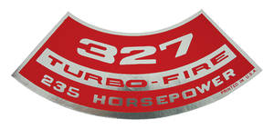 1964-77 Chevelle Air Cleaner Decal, Turbo-Fire 327, 235 HP