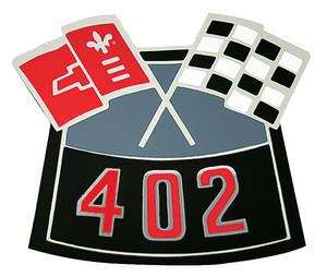 1964-77 Chevelle Air Cleaner Decal, Crossed Flags 402