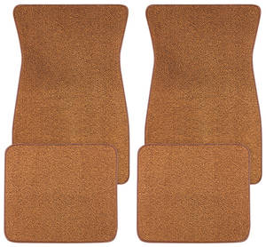 1959-76 Floor Mats, Carpet Matched Essex Carpet Arrowhead Logo, Bonneville & Catalina, by Trim Parts
