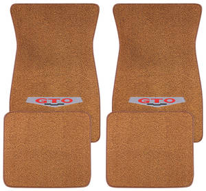 1964-73 Floor Mats, Carpet Matched Oem Style GTO Emblem, by ACC