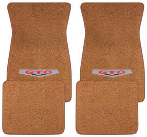 1964-73 Floor Mats, Carpet Matched Oem Style GTO Emblem