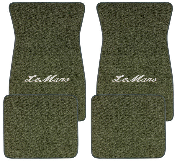 "Photo of Floor Mats, Carpet Matched Oem Style ""LeMans"" script"