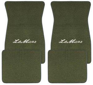 """1961-1973 LeMans Floor Mats, Carpet Matched Oem Style """"LeMans"""" Script, by ACC"""