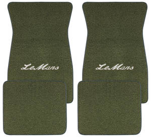 "1961-73 Floor Mats, Carpet Matched Oem Style ""LeMans"" Script"