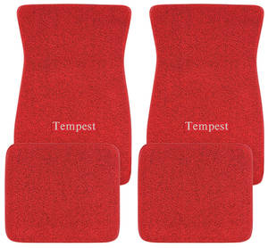 "1961-1971 Tempest Floor Mats, Carpet Matched Oem Style ""Tempest"" Script, by ACC"
