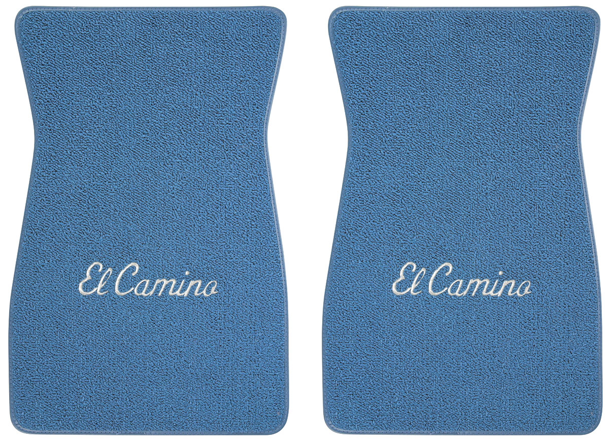 "Photo of Floor Mats, Carpet Matched Oem Style - Front Only ""El Camino"" script (loop)"