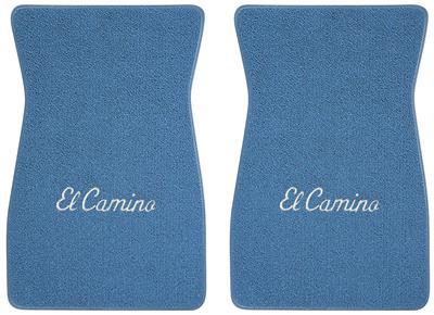 "1964-1973 El Camino Floor Mats, Carpet Matched Oem Style - Front Only ""El Camino"" Script (Loop), by ACC"