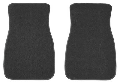 1964-1973 El Camino Floor Mats, Carpet Matched Oem Style - Front Only Plain (Loop)