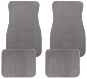 1961-73 GTO Floor Mats, Carpet Matched Essex Plain