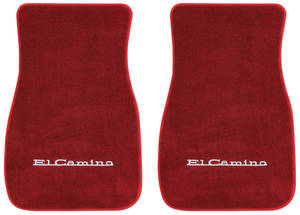 "1978-1987 El Camino Floor Mats, Carpet Matched Essex Carpet (Trim Parts) ""El Camino"" Block"