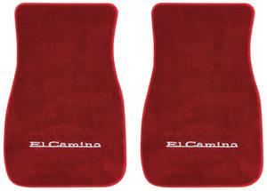 """1978-87 Floor Mats, Carpet Matched Essex Carpet (Trim Parts) """"El Camino"""" Block"""