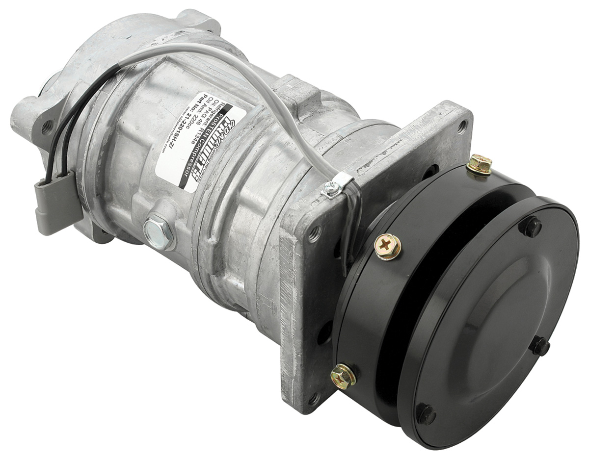 "Photo of Air Conditioning Compressor, ""Pro6Ten"" Superheat Style (Single Pulley)"