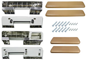 1965-67 GTO Armrest Kits, Front & Rear (Complete) Exc. Convertible, by RESTOPARTS