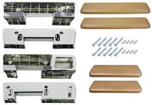 1965-67 Cutlass Armrest Kits, Complete Front & Rear Sedan