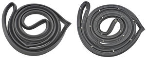 1964-67 Chevelle Door Weatherstrip 4-Door Sedan and Wagon (With Post) Front, by SoffSeal