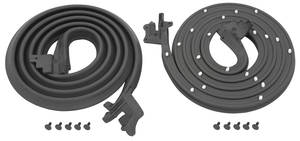 1961-63 Door Weatherstrip, Cutlass 4-Door Sedan and Wagon (Post) Front, by Steele Rubber Products