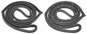 1968-72 Tempest Door Frame Weatherstrip 4-Door Sedan and Wagon (Post) Front, by SoffSeal