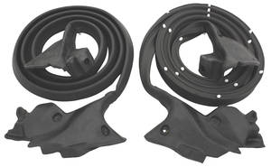 1973-77 Chevelle Door Weatherstrip 4-Door Sedan and Wagon (With Post) Front