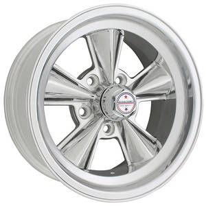 "1964-73 GTO Wheel, T70R Polished 15"" X 8"" (4"" B.S.) -12 mm Offset, by American Racing"