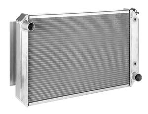 "1969-77 Grand Prix Radiator, Aluminum 33"" X 19"" MT, Natural, by Be Cool"