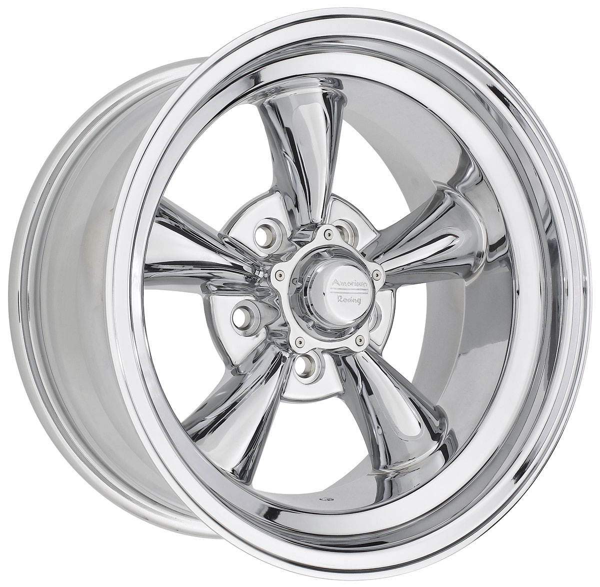 "Photo of Wheel, Torq-Thrust D Chrome 15"" x 8-1/2"" (B.S. 3-3/4"") -24 mm offset"